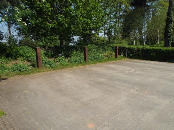 A photograph of the disabled parking bays by Reception at Creswell Crags Museum and Heritage Centre