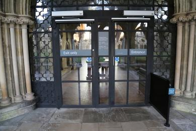 The entrance to The Chapter House