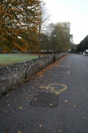 Example of the disabled parking spaces within the Cathedral Close