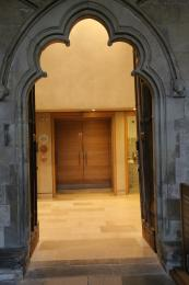 Entrance to the public toilets
