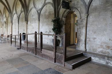 Access to The Refectory from The Cloisters