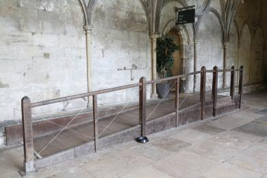 The ramp leading into The Refectory