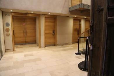 Entrance into the toilets