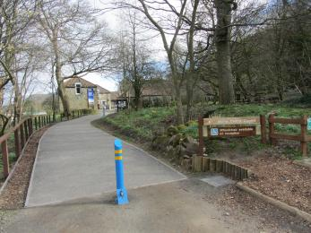 Path from car park to visitor centre