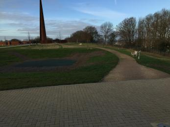 side path to the Memorial
