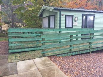 2 bedroomed accessible caravan exterior access ramp