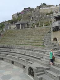 the lower terraces viewed from the stage