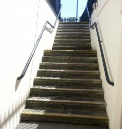 The steps to Didcot Railway Centre