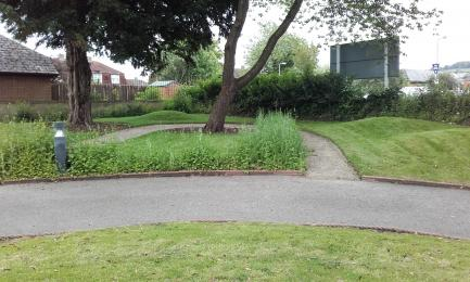 Wide access path in garden