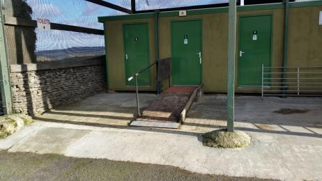 Disable Toilet with Ramp