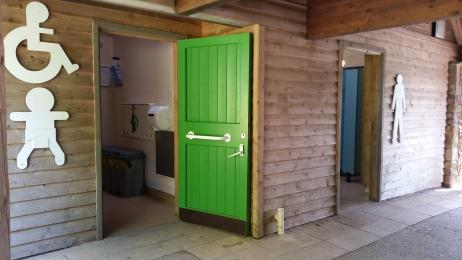 Entrance to accessible toilet and baby change
