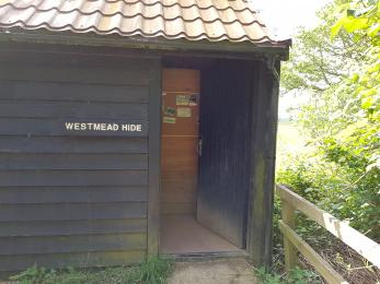 West Mead Hide - showing exterior and entrance door