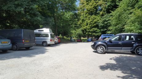 The car park.