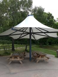 Sheltered seating area