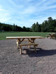 Wheelchair friendly picnic benches