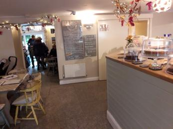Interior of Woods Cafe