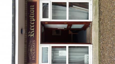 Reception door.