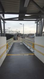 At the bottom of the ramp looking towards Didcot Parkway Station