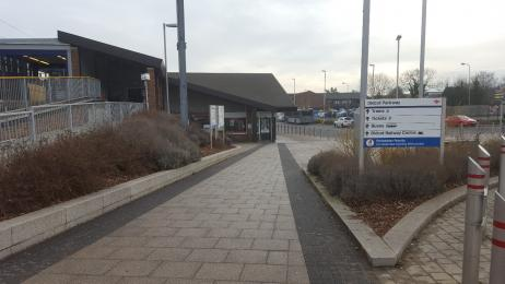 From the bottom of the ramp to Didcot Parkway Station