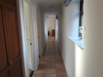 Access route to bathroom and bedrooms