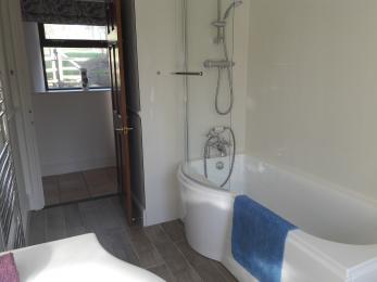View of bathroom to doorway