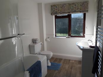 View in to the bathroom