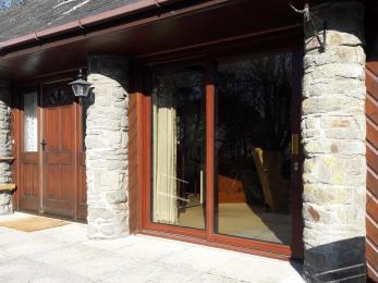 Patio doors from the lounge to the terrace