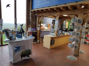 Photo of welcome area and admissions/shop desk