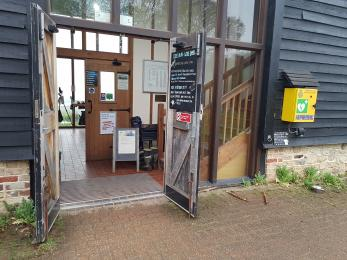 Entrance door to Visitor Centre