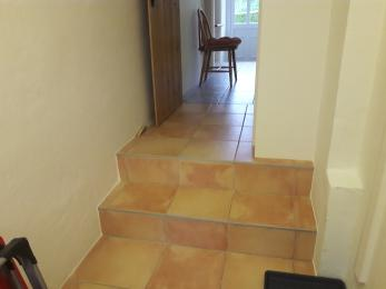 Steps in to Utility Room