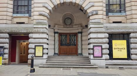 The lift entrance is on Edmund Street, the main entrance we refer to in this guide.