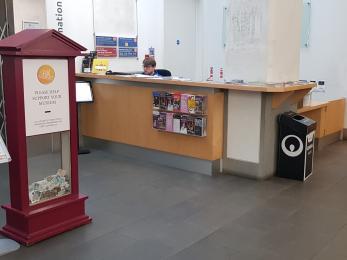 Gas Hall Reception Desk, Level 1 for Edmund Street Lift.