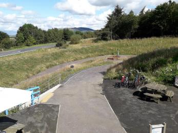 Path from visitor centre to underpass