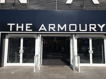 Stadium Tour Entrance located inside Armoury  Store