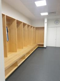 Example of seating in Away Changing Room