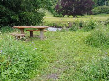 Accessible  picnic table by the river