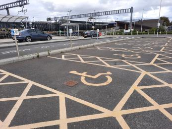 Blue Badge parking to the west of Didcot Parkway Station