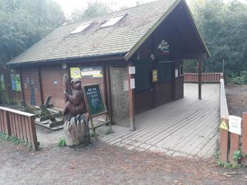 Access to Go Ape cabin