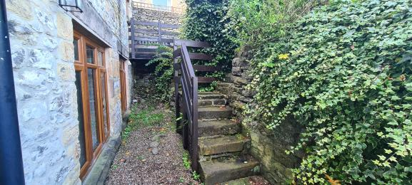 Steps leading to the front door path