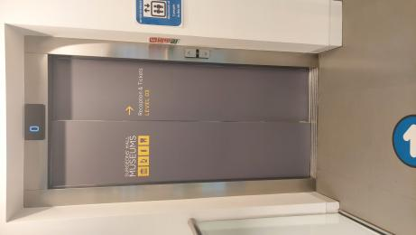Photo showing the lift door