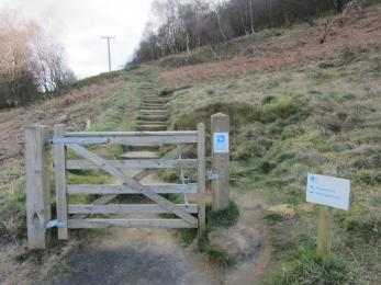 Gate to Woodland Walk and Vane Hill