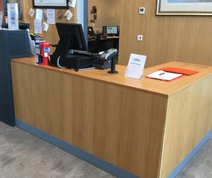 Accessible area of Reception and Shop counter
