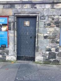 Courtyard door, usually opened during museum opening hours