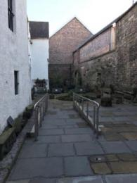 The access ramp in the courtyard