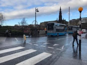 Bus stops on Waverley bridge