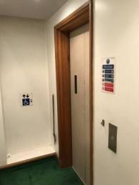 Doors of the lift at the ground floor
