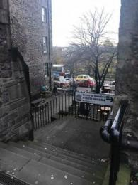 The Writer's Museum is located in Lady Stair's Close and the nearest bus stop is only accessible via stairs. For more accessible way from the mound bus stop to the museum, you can travel on foot via Bank Street which brings you to the Lawnmarket.