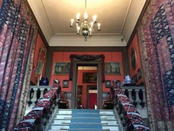 Grand staircase from main entrance to first floor
