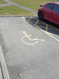 Photo of disabled parking space