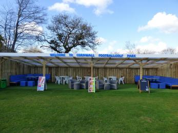 Photograph of our sheltered outside seating area.
